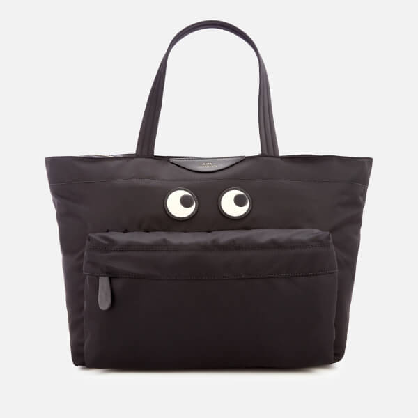 Anya Hindmarch Women's Nylon East West Eyes Tote Bag - Black