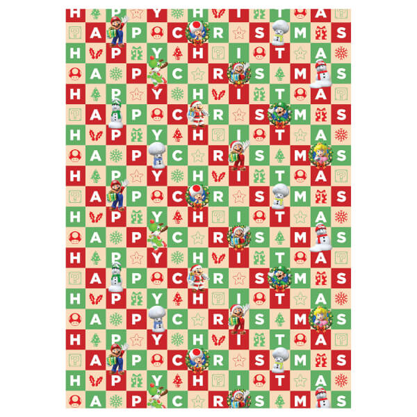 Nintendo Christmas Wrapping Paper