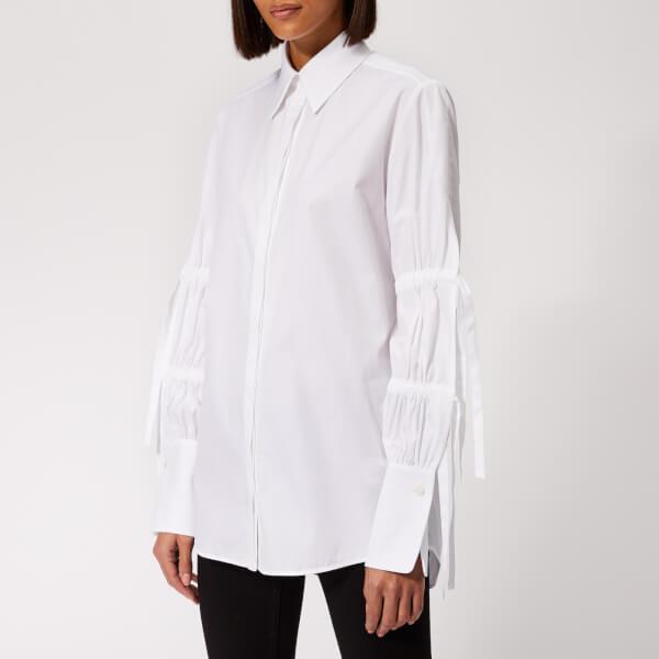 Victoria, Victoria Beckham Women's Tie Sleeve Shirt - White