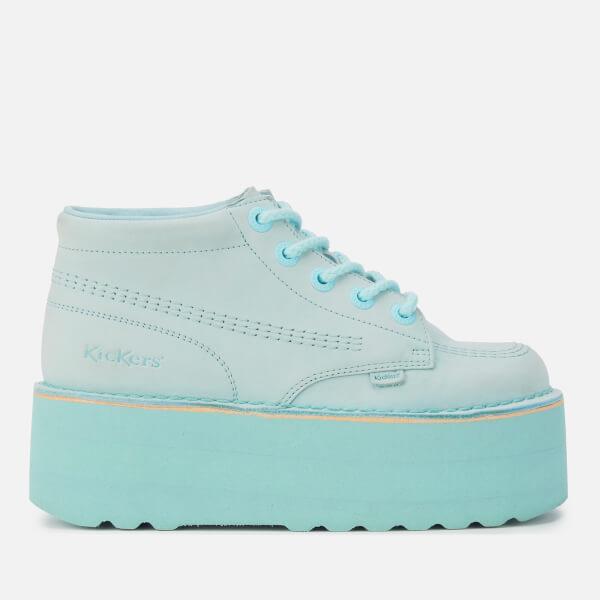 Kickers Women's Kick Hi-Stack Leather Boots - Pastel Blue