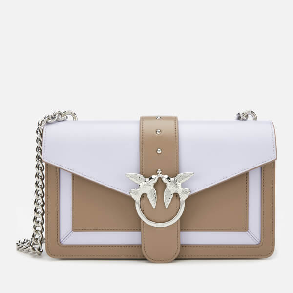 Pinko Women's Love Evolution Shoulder Bag - Lavender/Tan