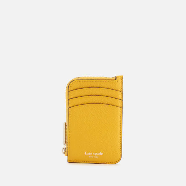 Kate Spade New York Women's Margaux Zip Card Holder - Vibrant Canary