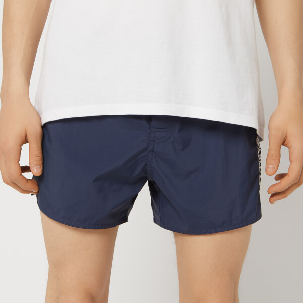 Emporio Armani Men's Embroidered Swim Shorts - Navy