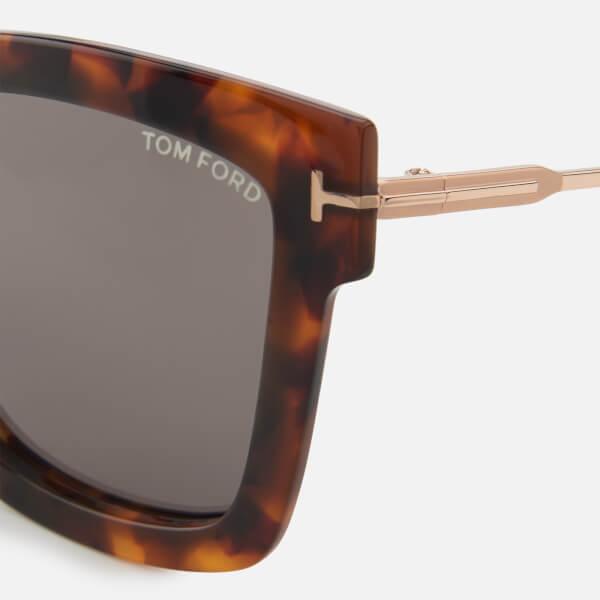 7391f499f74 Tom Ford Women s Lara Sunglasses - Dark Havana  Image 3