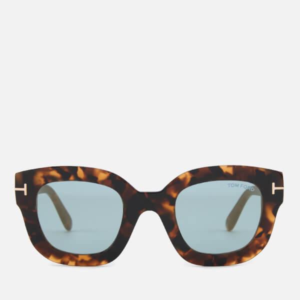 Tom Ford Women's Pia Sunglasses - Havana/Blue Mirror