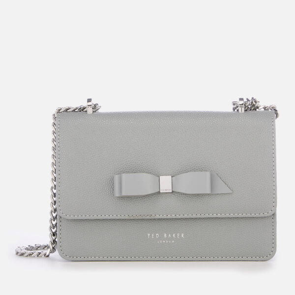 1027f67e14c5 Ted Baker Women s Jayllaa Bow Detail Micro Cross Body Bag - Grey  Image 1