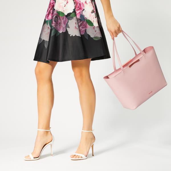 ba2b517670 Ted Baker Women's Jackki Faceted Bow Mini Bark Shopper Bag - Light Pink:  Image 3