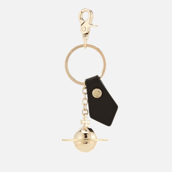 Vivienne Westwood Men's 3D Orb Keyring - Light Gold/Black