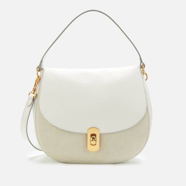 Coccinelle Women's Zaniah Suede Bag - White