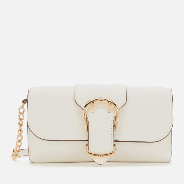 88ab501229e3 Lauren Ralph Lauren Women's Soft Pebble Leather Clutch Bag - Vanilla: Image  1