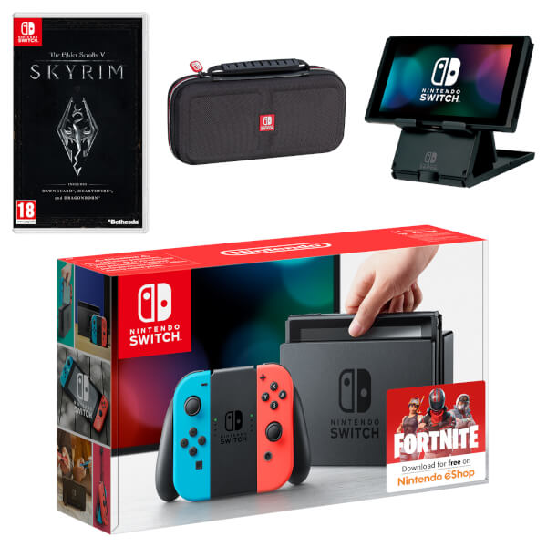 Nintendo Switch (Neon Blue / Neon Red) The Elder Scrolls V: Skyrim Pack
