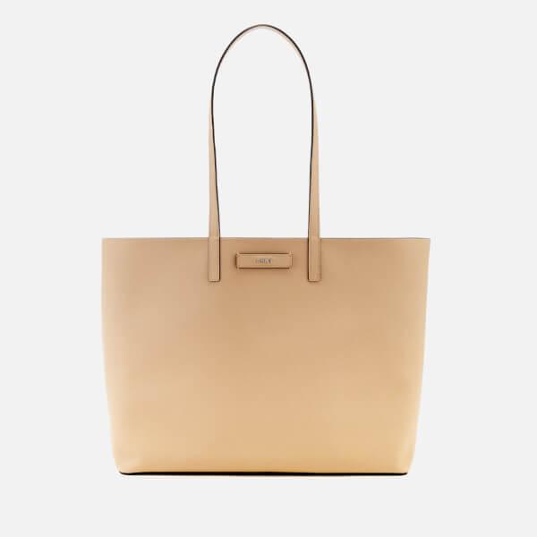 DKNY Women's Brayden Large Reversible Tote Bag - Latte/Pink