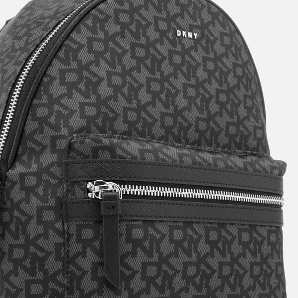 DKNY Women s Casey Medium Backpack - Black Logo  Image 4 928d180968d9f