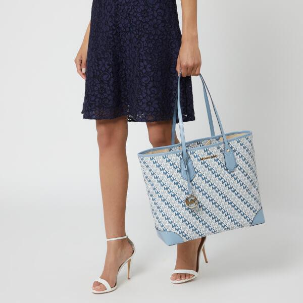 c332b85b40ac MICHAEL MICHAEL KORS Women's Eva Large Tote Bag - Optic White (Blue Logo):