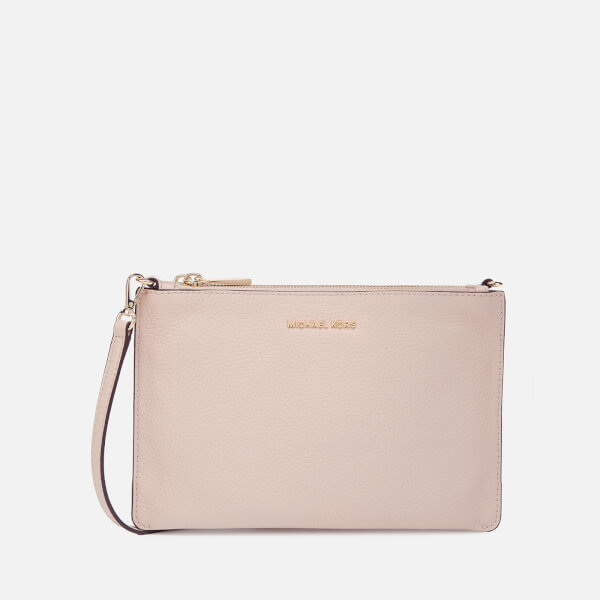 9e025bea0ded MICHAEL MICHAEL KORS Women s Large Double Pouch Cross Body Bag - Soft Pink   Image 1