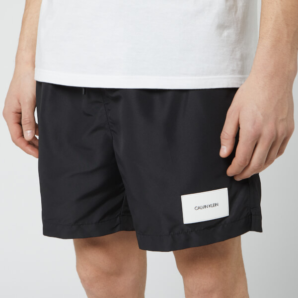 0a9e1edb5b Calvin Klein Men's Medium Double Waistband Swim Shorts - Black: Image 1