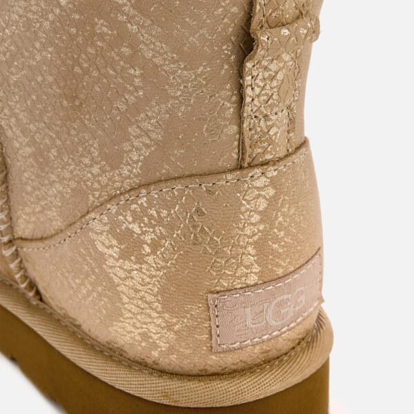 5ca7e77a0d00 UGG Women's Classic Mini Metallic Snake Sheepskin Boots - Gold: Image 4