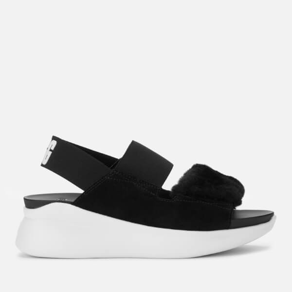 UGG Women's Silverlake Double Strap Sandals - Black/White