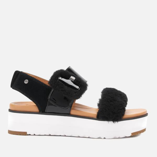 UGG Women's Fluff Chella Flatform Sandals - Black