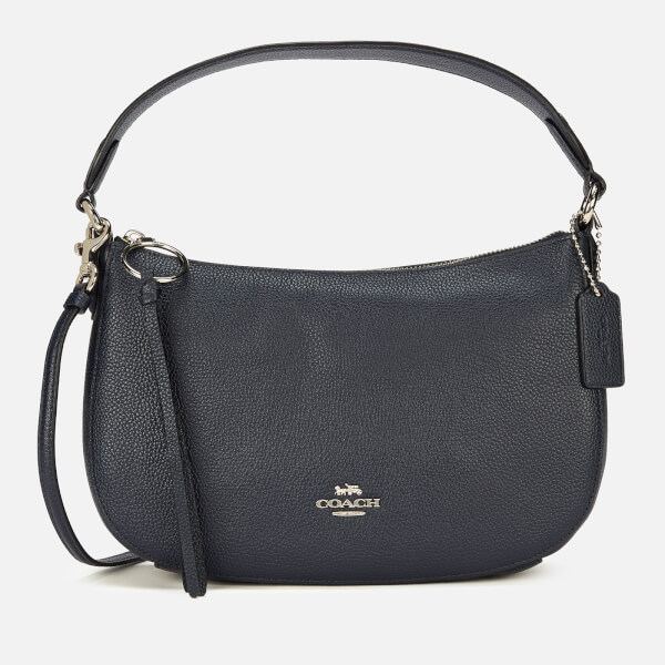 Coach Women's Polished Pebble Leather Sutton Cross Body Bag - Midnight Navy