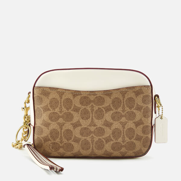 Coach Women's Coated Canvas Signature Camera Bag - Tan Chalk