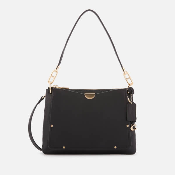 Coach Women's Mixed Leather Dreamer Shoulder Bag - Black