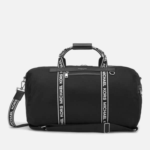 Michael Kors Men's Logo Webbed Holdall Bag - Black/White