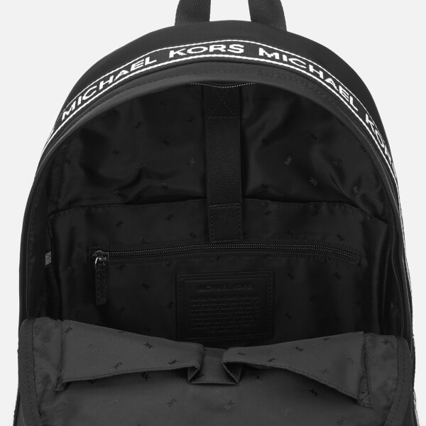f977beb4cb Michael Kors Men s Kent Backpack - Black White  Image 5