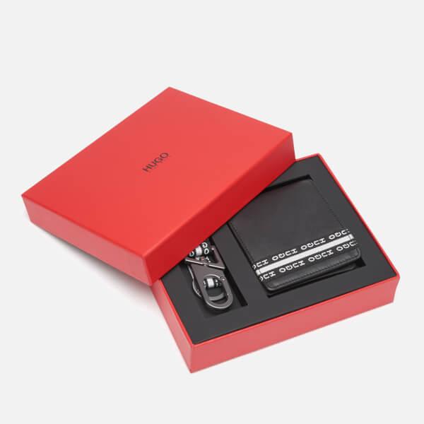 91ba49676f5 HUGO Men's Wallet and Key Holder Gift Box - Black: Image 1