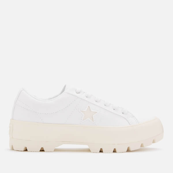 Converse Women's One Star Lugged Ox Trainers - White/Egret