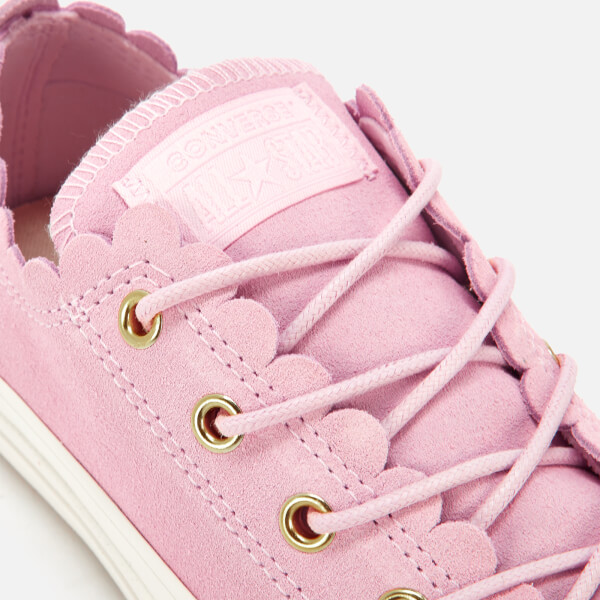 fac1b7e70e8 Converse Women's Chuck Taylor All Star Scalloped Edge Ox Trainers - Pink  Foam/Gold/