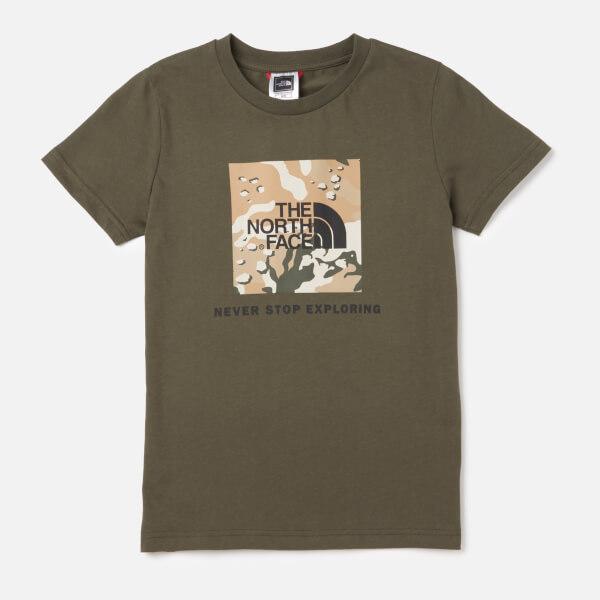 The North Face Kids' Youth Box Short Sleeve T-Shirt - Kelp Tan