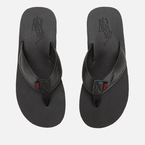 Polo Ralph Lauren Men's Sullivan III Tumbled Leather Sandals - Black