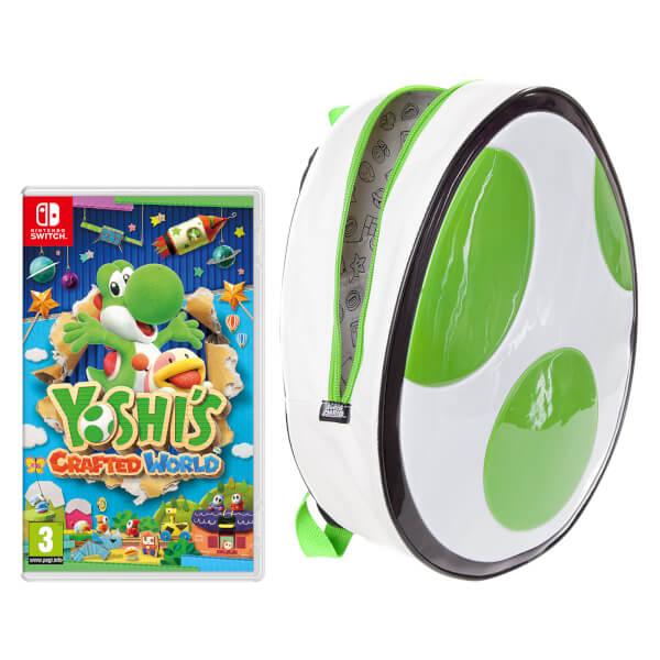 Yoshi's Crafted World + Yoshi's Egg Backpack