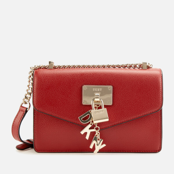 1eaabee98 DKNY Women's Elissa Small Shoulder Flap Bag - Bright Red: Image 1