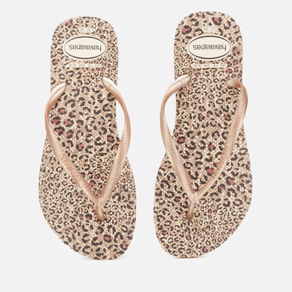 Havaianas Women's Slim Animals Flip Flops - Beige/Rose Gold/Rose Gold