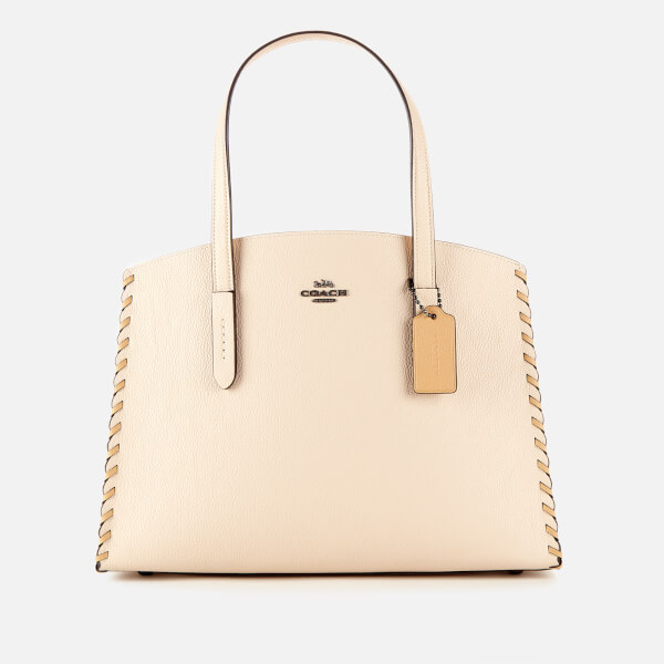 Coach Women's Whipstitch Colorblock Charlie Carryall Bag - Ivory Multi