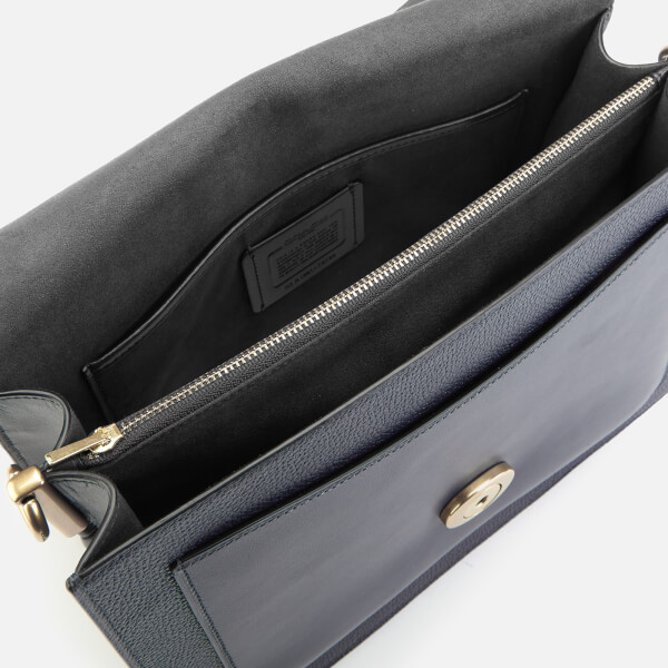 9f3ecf7c0a Coach Women's Mixed Leather Tabby Shoulder Bag - Midnight Navy: Image 5