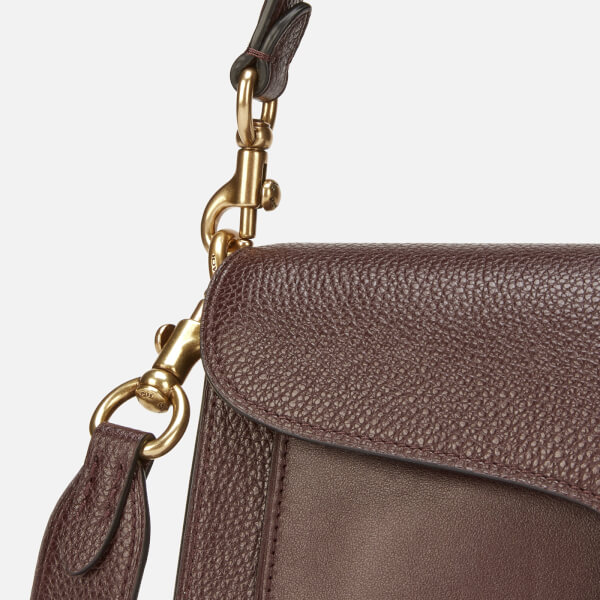 7511e3ca37 Coach Women's Mixed Leather With Polished Pebble Tabby Shoulder Bag 26 -  Oxblood: Image 4