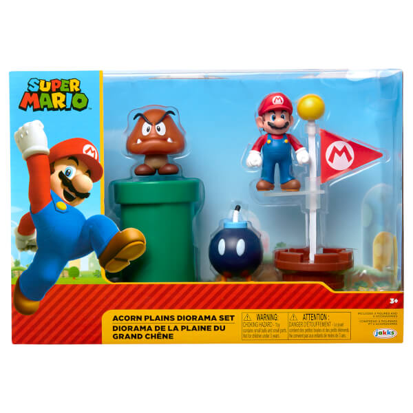 Super Mario Acorn Plains Diorama Set