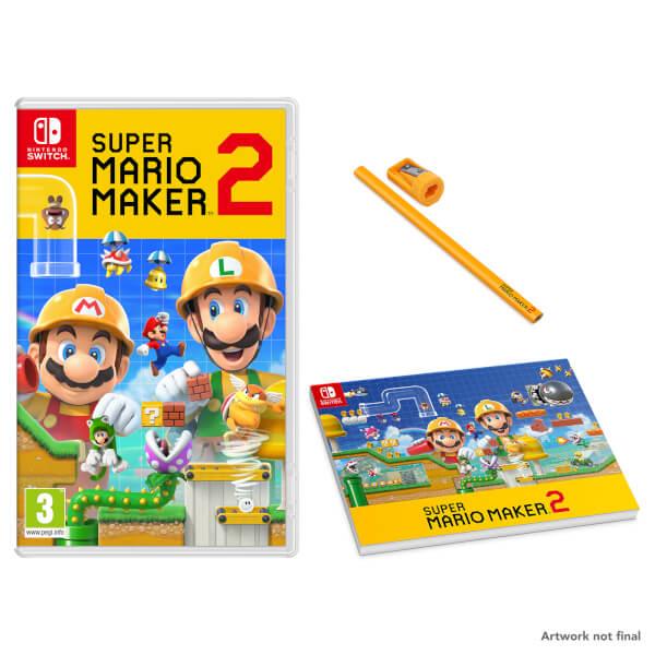 Super Mario Maker 2 + Carpenters Pad and Pencil Set
