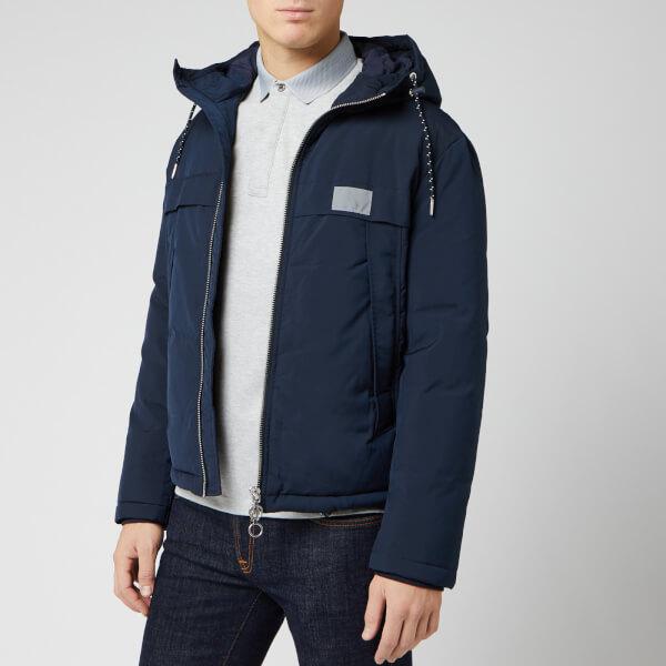armani exchange men's reflective logo jacket - deep navy - s - blue