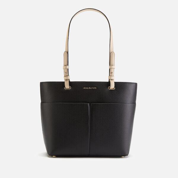 MICHAEL MICHAEL KORS Women's Bedford Medium Top Zip Pocket Tote Bag - Black