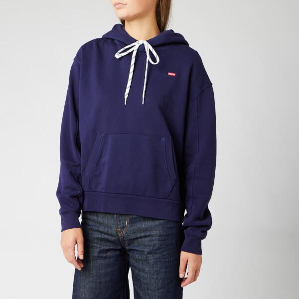 levi's women's 'unbasic' hoodie - sea captain blue wash sea captain - m