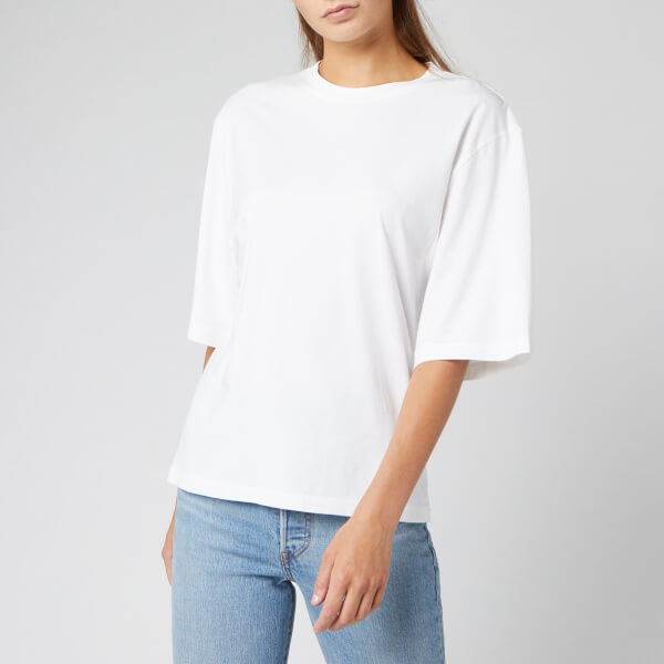 levi's women's made and crafted oversized sleeve t-shirt - bright white - xs