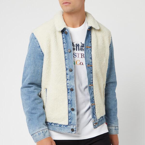 levi's men's sherpa panel trucker jacket - so sheepy - m