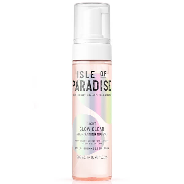 Isle Of Paradise Glow Clear Self-tanning Mousse - Light 200ml