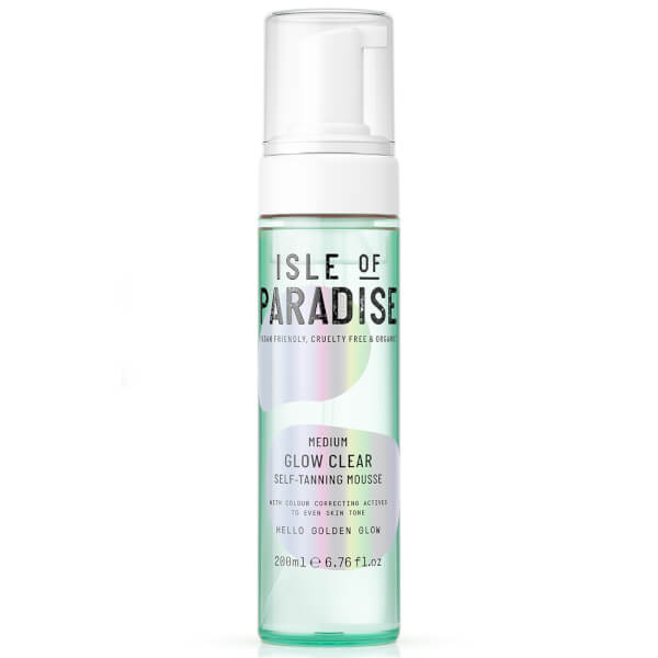 Isle Of Paradise Glow Clear Self-tanning Mousse - Medium 200ml