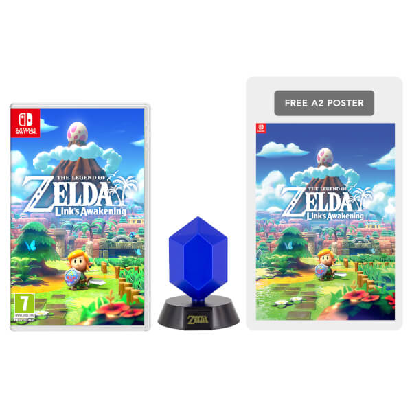 The Legend of Zelda: Link's Awakening + Blue Rupee Lamp Pack