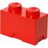 Brique de rangement LEGO® rouge 2 tenons: Image 1